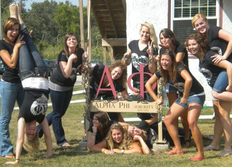 Alpha Phi Sorority from the University of Northern Iowa